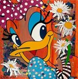 Ooh My Daisy! by C R U S H, Painting, gloss paint, copper leaf, glitter and gorgeousness on aluminium