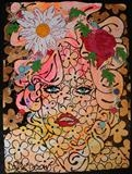 sweet dreams by C R U S H, Drawing, glitter and gloss on handmade paper un-framed